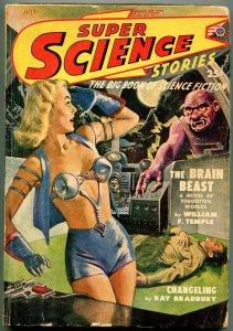 Super Science Stories July 1949- Ray Bradbury- Brain Beast G