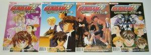 Mobile Suit Gundam Wing: Ground Zero #1-4 VF/NM complete series - viz comics