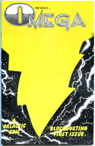OMEGA #1, NM+, Tim Vigil, Faust, limited Yellow cover, HTF, 1988, Galactic Epic