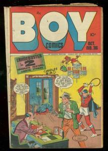 BOY COMICS #36 1947-CHARLES BIRO BLODDY COVER-MAURER VG-