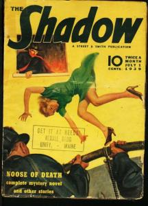 SHADOW 1939 JUL 1-STREET AND SMITH PULP-RARE G