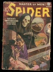 THE SPIDER DEC 1937 SATANS SWITCHBOARD GRIM REAPER CVR G+