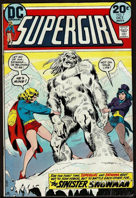 Supergirl #7 (Oct 1973, DC) with Zatanna 6.5 FN+