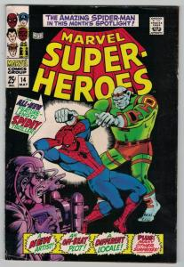 MARVEL SUPER HEROES 14 VG-F SPIDER-MAN, GA KIRBY!!