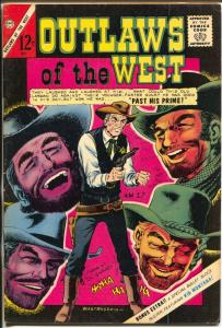 Outlaws of The West 54 1965-Charlton-gun fights-violence-Pete Morisi-FN-