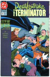 DEATHSTROKE the TERMINATOR #9, NM, Marv Wolfman, 1991, Batman, more in store