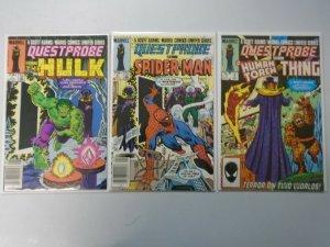 Questprobe set #1-3 7.0 FN VF (1984 Marvel)