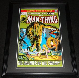The Man Thing #11 Marvel Framed Cover Photo Poster 11x14 Official Repro