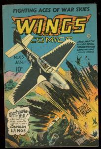 WINGS COMICS #65 1946-FICTION HOUSE-SUICIDE SMITH-ELIAS FN-