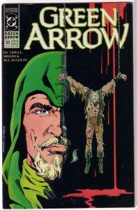 Green Arrow (vol. 2, 1987) # 33 VG/FN Grell/Jurgens