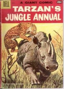 TARZANS JUNGLE ANNUAL 6 VG DELL GIANT   1957 COMICS BOOK