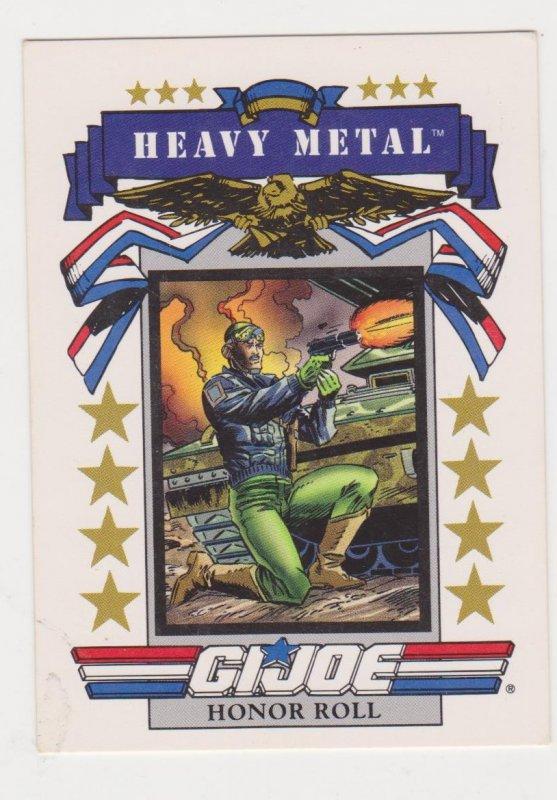 1991 Impel G.I. Joe Card #185 Heavy Metal
