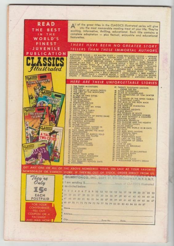 Classics Illustrated #87 (Sep-51) VF High-Grade Helena, Demetrius, Hermia, Ly...