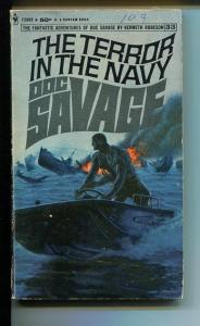 DOC SAVAGE-THE TERROR IN THE NAVY-#33-ROBESON-VG-JAMES BAMA COVER-1ST EDITION VG