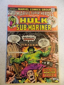 MARVEL SUPER HEROES # 54 MARVEL BRONZE ACTION ADVENTURE HULK SUB-MARINER FN-