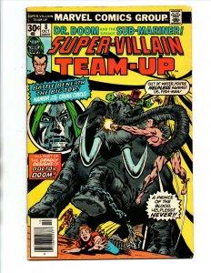 Super-Villain Team-Up #8 newsstand - Namor - Doctor Doom - 1976 - FN