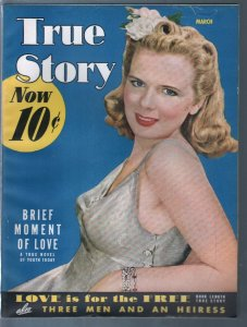 True Story 3/1942-Grace Lynn-FDR-WWII era-exploitation-pulp thrills-VF