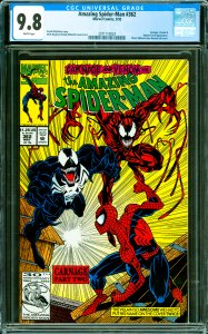 Amazing Spider-Man #362 CGC Graded 9.8 Carngae, Venom & Human Torch appearance.