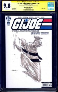 G.I. Joe #266 BLANK CGC SS 9.8 signed ORIGINAL STORM SHADOW SKETCH Netho Diaz