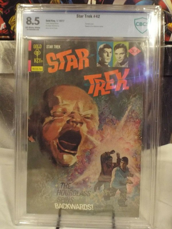 Star Trek #42 - CBCS 8.5 - OW/W (GOLD KEY 1977) Painted Cover - RARE