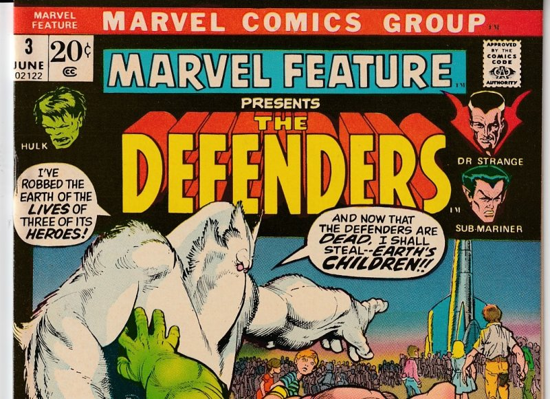 Marvel Feature # 3 The Defenders