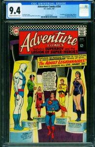 ADVENTURE COMICS #354 CGC 9.4 1967-SUPERBOY-LEGION 2039573021