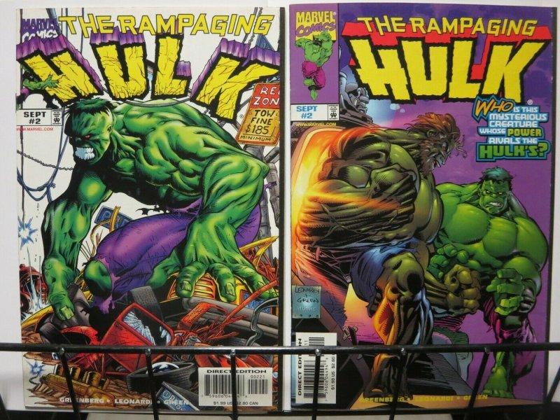 RAMPAGING HULK (1997) 2 BOTH VARIANTS