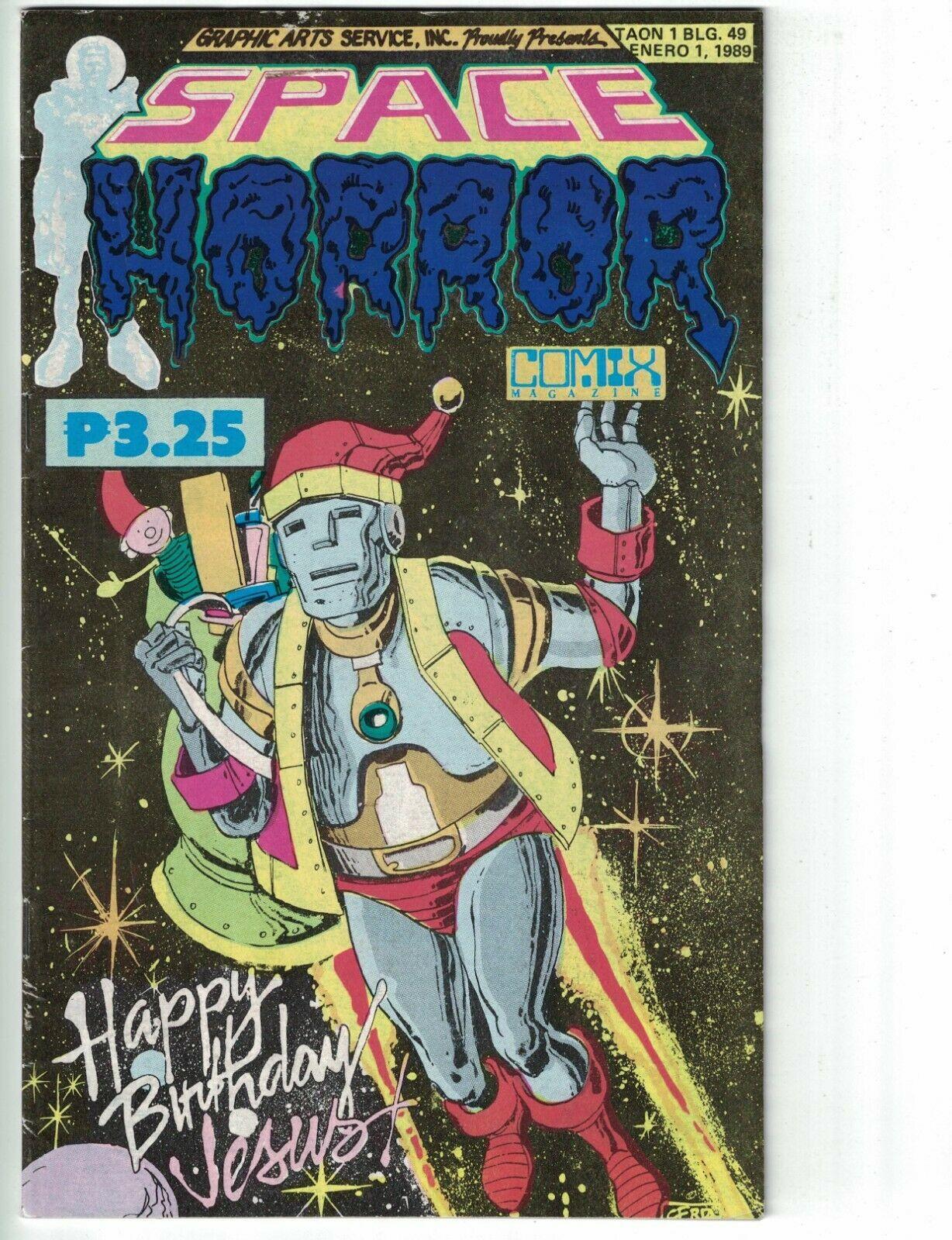 Space Horror Comix 49 Happy Birthday Jesus Christmas 1989 Filipino Comic Hipcomic