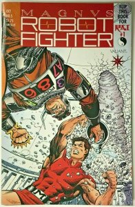 MAGNUS ROBOT FIGHTER#5 VF 1991 FIRST APPEARANCE RAI VALIANT COMICS