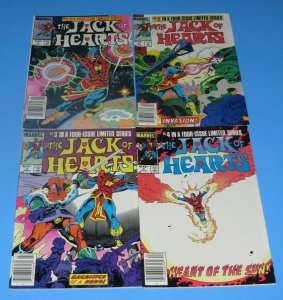 The Jack of Hearts Mini Series #1,2,3,4 VF+ Marvel Bronze Age Comic Superhero