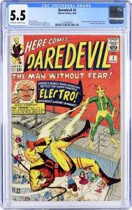 Daredevil #2 (1964) CGC Graded 5.5