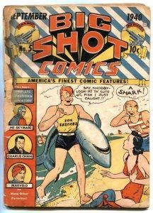 Big Shot #5 1940- SHARK COVER- low grade copy