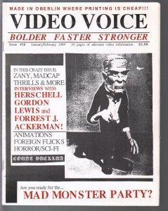 Video Voice #10 1989-Forrest J. Ackerman interview-foreign horror films-VF