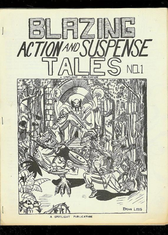BLAZING ACTION AND SUSPENSE TALES-COMIC FANZINE-#1-1968 VG/FN