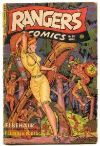 Rangers #59 1951-Spicy Firehair cover- glue on spine
