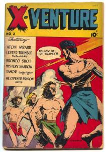X-Venture Comics #2 1947- Atom Wizard- Robot story- Bronco Shot G/VG