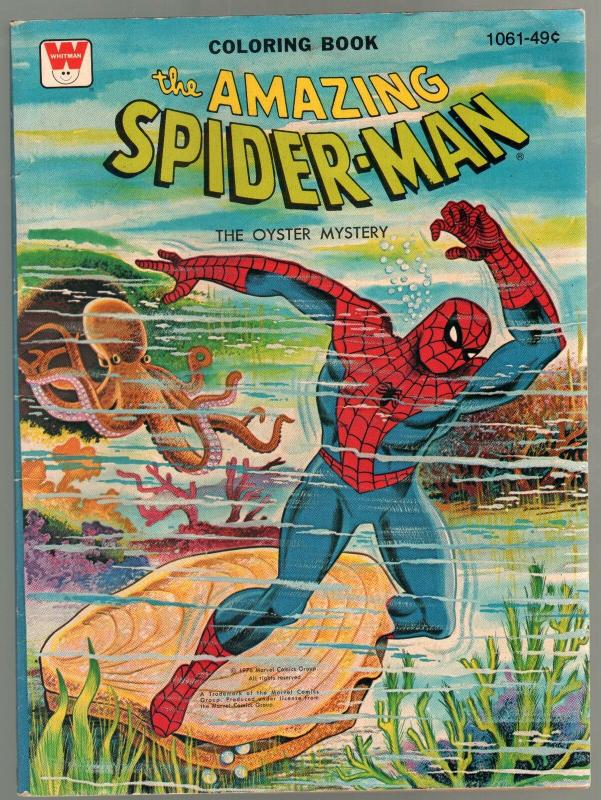 Amazing Spider-Man Coloring Book #1061 1976-The Oyster Mystery-FN