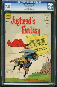 JUGHEAD'S FANTASY #1-CGC 7.0 RARE ARCHIE-1ST ISSUE-SOUTHERN STATES 0006253005