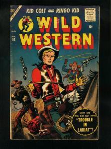 WILD WESTERN COMICS #53-ATLAS COMICS-KID COLT-RINGO KID-ATAH KID-MANEELY  VG-