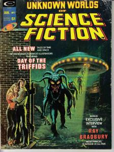UNKNOWN WORLDS OF SCIENCE FICTION MAGAZINE #1 (1975) MARVEL COMICS VG FREAS CVR