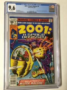 2001: A Space Odyssey 9 Cgc 9.6 White Pages 2nd Machine Man X-51