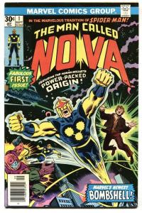 NOVA #1-MARVEL comic book BRONZE KEY-1976-1st issue VF