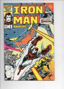 IRON MAN #8 Annual, VF+, X-Factor, Marvel, 1968 1986, more IM in store