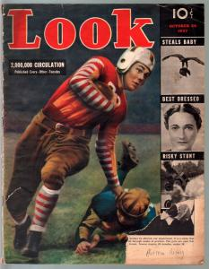 Look 10/26/1937-Football game-Photocrime-KKK-Black Legion-submarine-FR/G