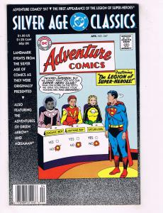 DC Silver Age Classics Adventure Comics # 247 VG Comic Book Reprint Legion J62