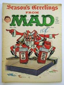MAD Magazine Jan 1962 No 68 Seasons Greetings Santa Cover Comic Strip Characters
