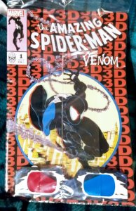 The Amazing Spider-Man  Venom 3D # 1 NM Cover A with poly bag