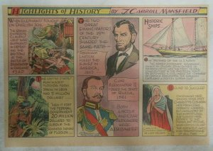 Highlights of History Sunday Abraham Lincoln  by J. Carroll Mansfield from 1939