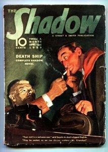 SHADOW 1939 pulp magazine APR 1-GREAT ISSUE-RARE PULP-vg