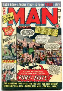 MAN #2 1950-MARVEL COMICS--FURY OF FISTS--BOXING COVER VG